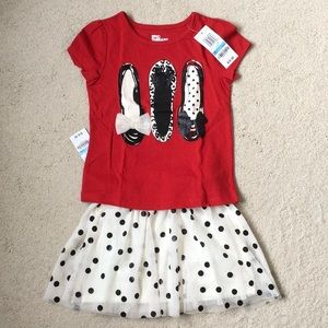 Girls Epic Threads Tee and Tulle Skirt Set NWT 5
